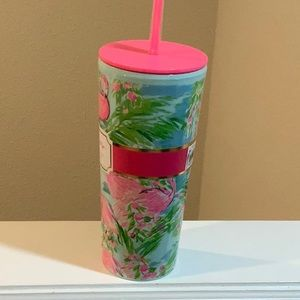 NWT LILLY PULITZER  TUMBLER WITH STRAW
